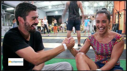 """""""Vai Encarar?"""" participa de desafio de crossfit com a apresentadora da InterTV RJ, Ana Paula Mendes"""