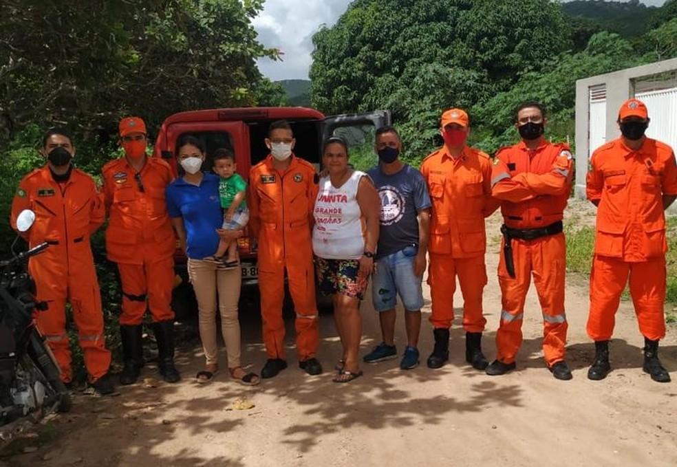 Idosa foi resgatada após sete dias sozinha em mata — Foto: CBM/Divulgação