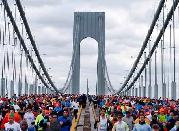 Com acesso gratuito ao público, a maratona acontece em NY desde 1970 (Foto: Divulgação)