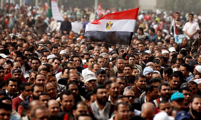 Manifestação no Cairo, capital do Egito, em fevereiro de 2011