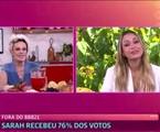 Ana Maria Braga entrevista a eliminada Sarah no 'Mais você' | Reprodução
