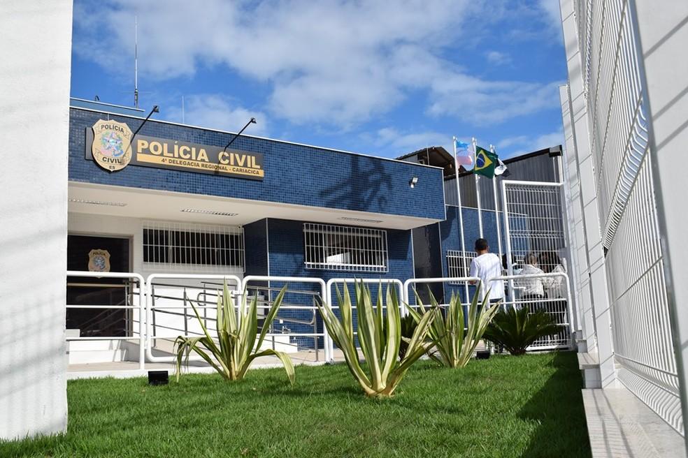 Delegacia Regional de Cariacica — Foto: Reprodução/TV Gazeta