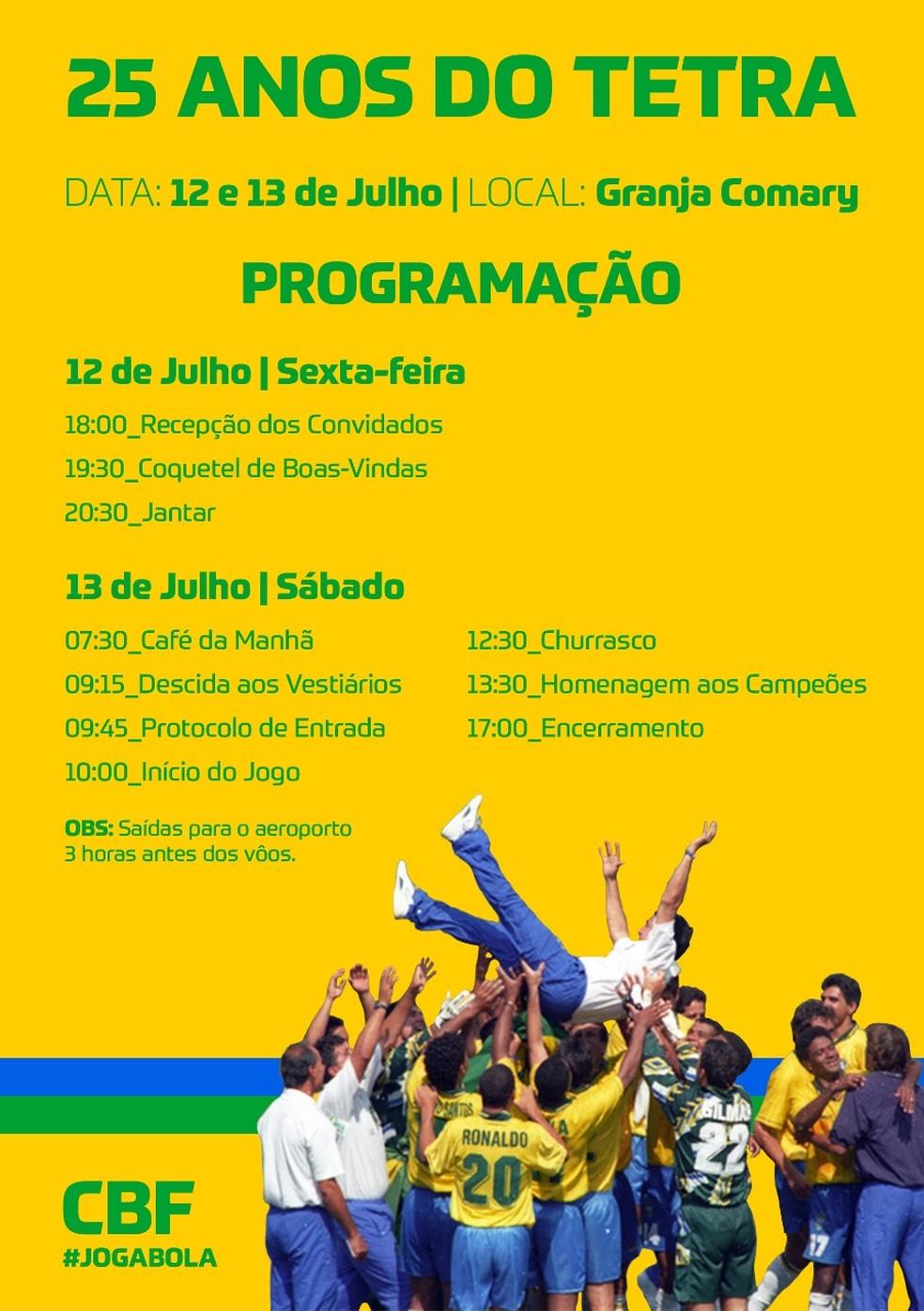 Panfleto de divulgação do evento da CBF — Foto: Divulgação