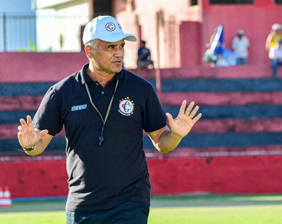 Segunda passagem de Oliveira Canindé pelo Campinense foi encerrada após oito jogos — Foto: Samy Oliveira / Campinense