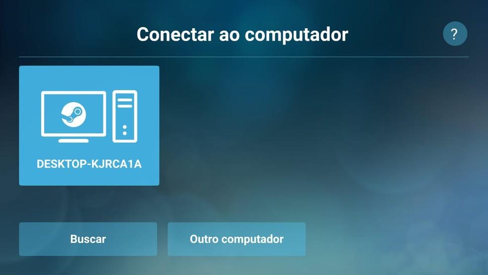 O aplicativo faz uma busca por computadores conectados à Steam   — Foto: Reprodução/Gabriela Rodrigues