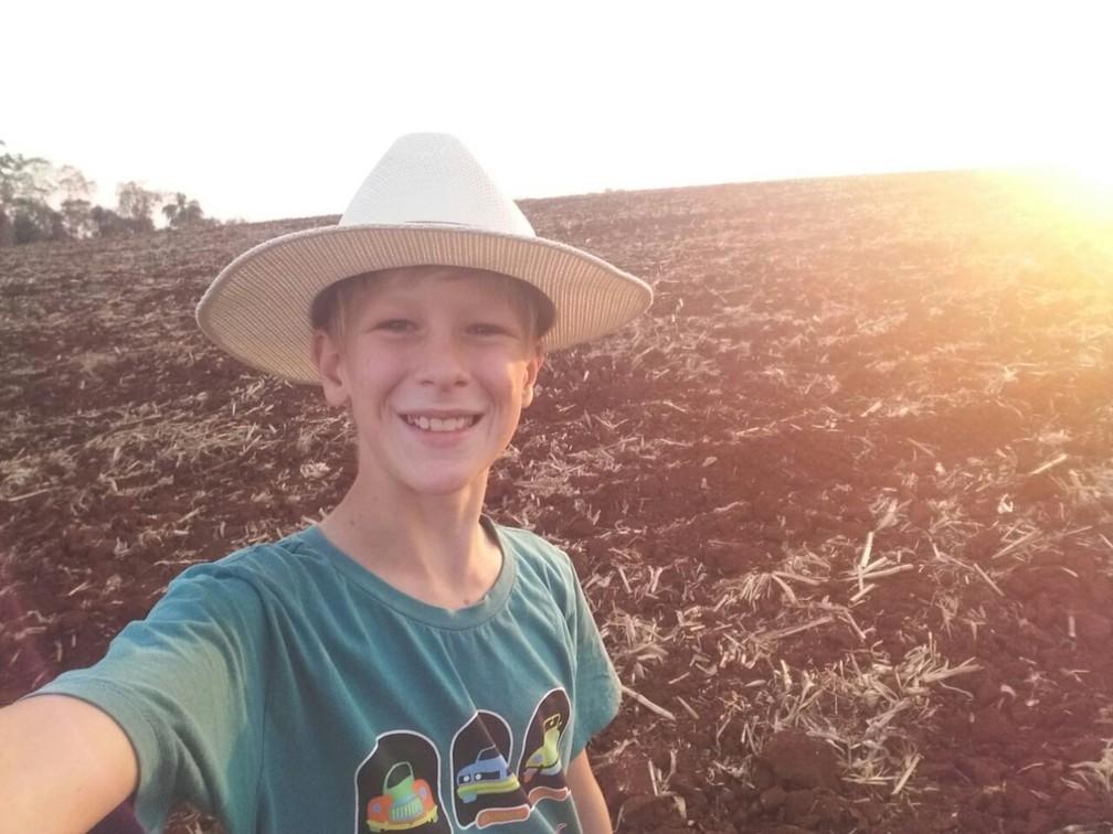 Andrei tem 12 anos e mais de 10 mil seguidores no seu canal no Youtube (Foto: Arquivo pessoal )