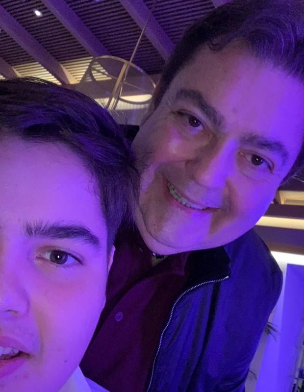 João Guilherme e Faustão  (Foto: Reprodução/Instagram)
