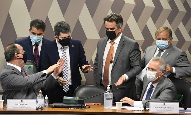 Senadores na CPI da Covid