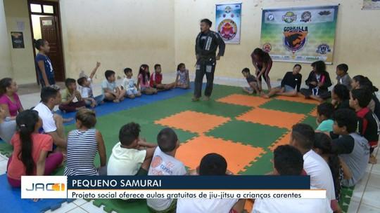 Projeto social atrai jovens da periferia para aulas gratuitas de jiu-jitsu, em Rio Branco