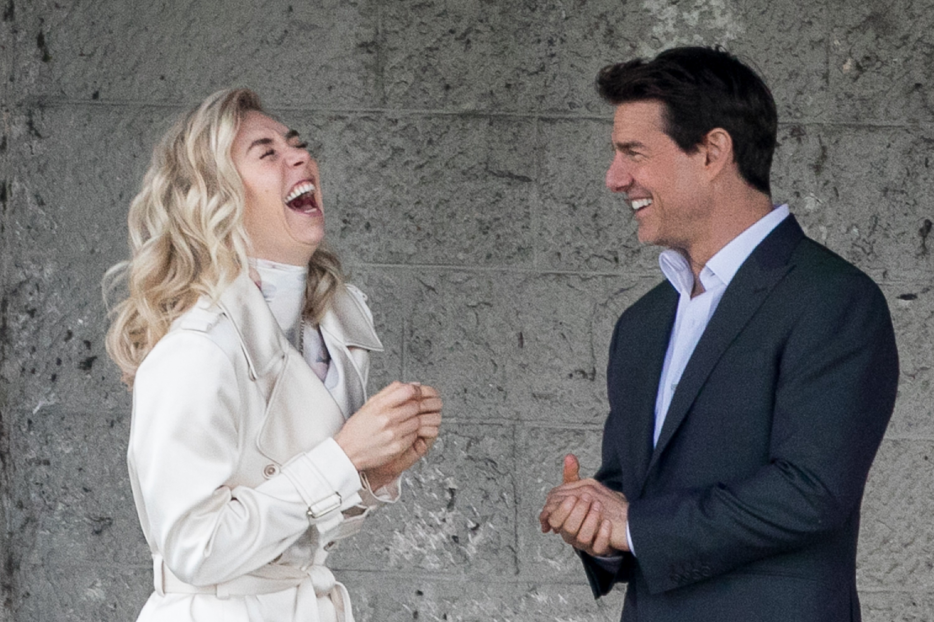 Tom Cruise e Vanessa Kirby no set de 'Missão: Impossível 6' (Foto: Getty)