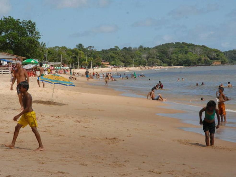 Praia Baía do Sol, em Mosqueiro também está comprometida. — Foto: Ary Souza/O Liberal