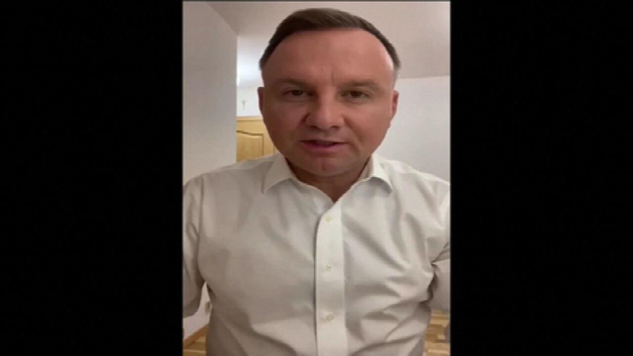 Presidente da Polônia testa positivo para a Covid -19