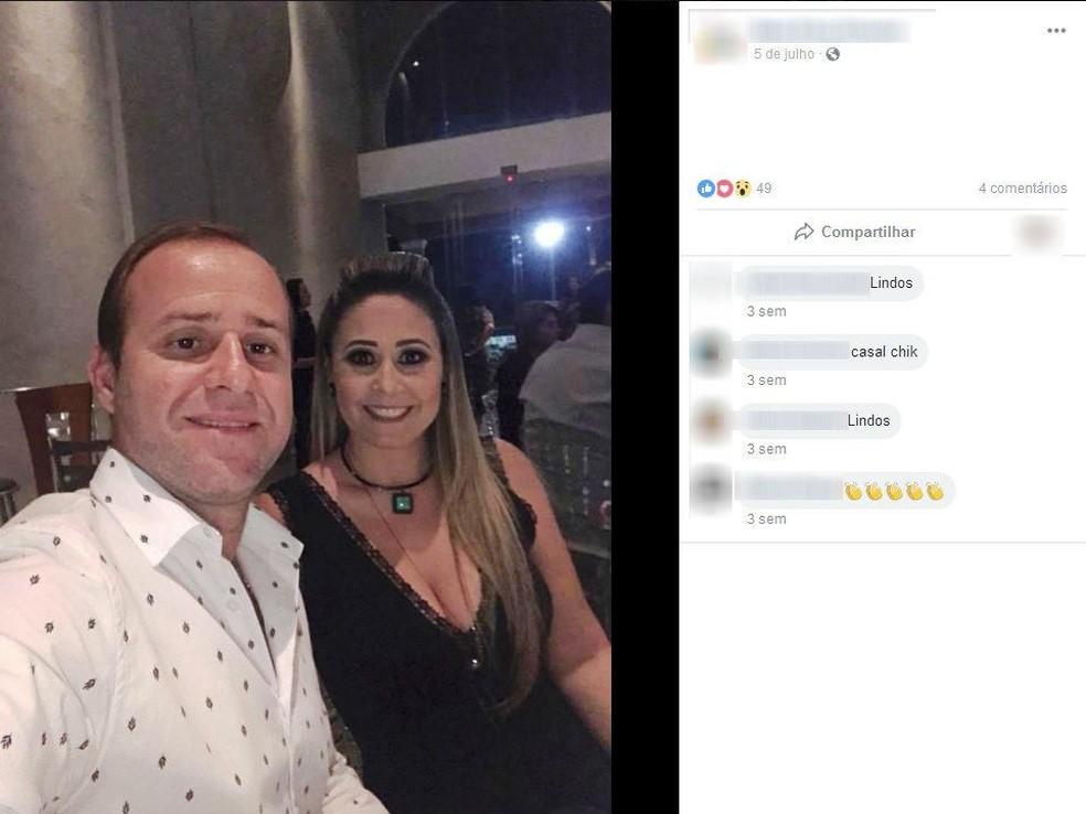 Empresário Roberto Santos Oliveira e a Érica Cristina Carpi Oliveira, ex-tesoureira da Prefeitura de Jales, foram presos na época — Foto: Reprodução/Facebook/Arquivo