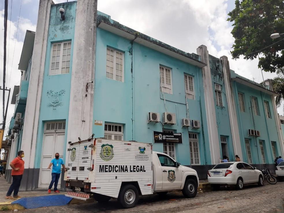 Instituto Técnico-Científico de Perícia do Rio Grande do Norte RN (Itep) sede fachada — Foto: Lucas Cortez/Inter TV Cabugi