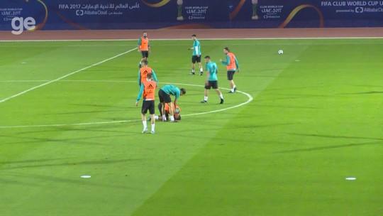Primeiro treino do Real em Abu Dhabi tem sustos de CR7, Casemiro e Sergio Ramos