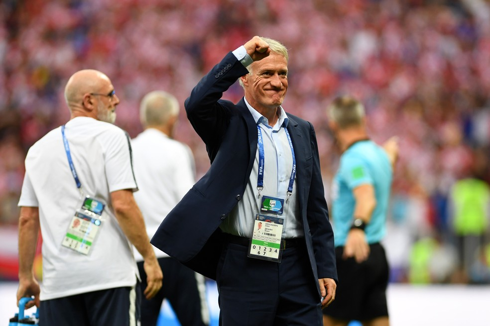 Didier Deschamps, técnico da França (Foto: Michael Regan - FIFA/FIFA via Getty Images)