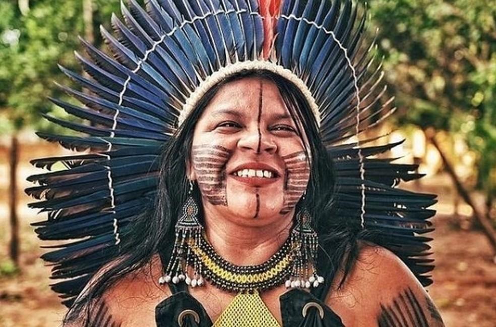 A líder indígena Sonia Guajajara — Foto: Reprodução/Redes Sociais/Sonia Guajajara