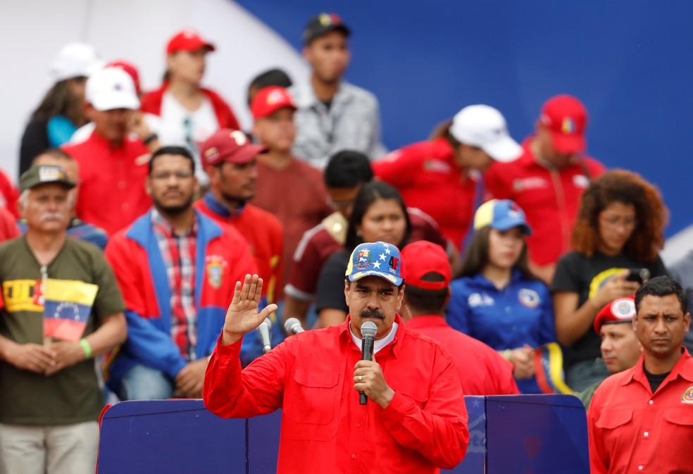 Maduro descartou antecipar eleição presidencial, em imagem de arquivo  — Foto: Reuters