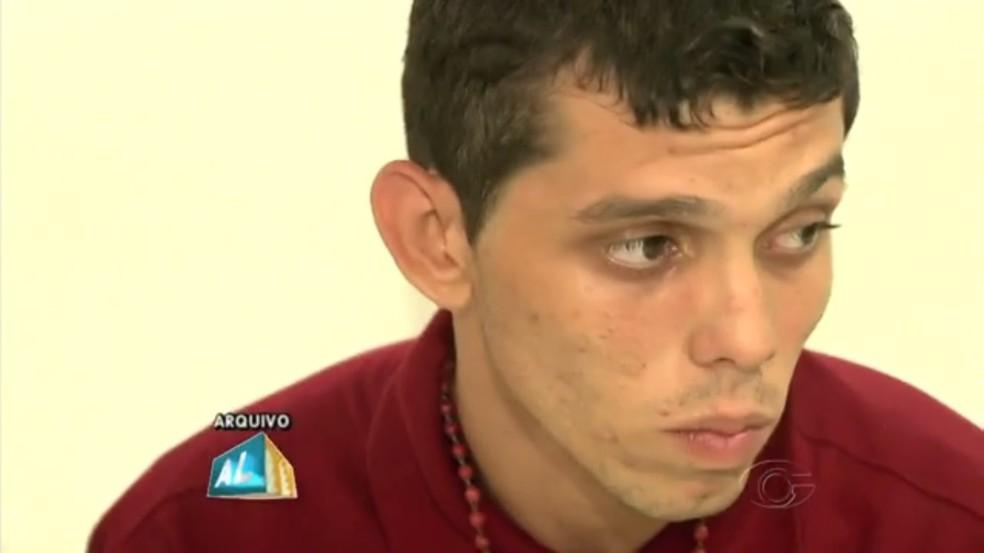 Al Unser Ayslan Silva do Nascimento é acusado de matar torcedor do CRB. (Foto: Reprodução/TV Gazeta)