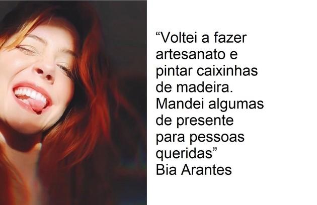 Bia Arantes se dedica ao artesanato (Foto: Reprodução)
