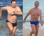 Márvio Lúcio antes e depois de perder 11kg | Reprodução