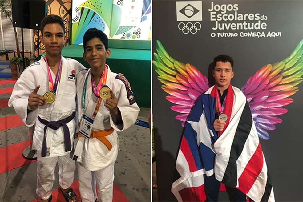 Atletas maranhenses são medalhistas no judô e luta olímpica nos Jogos Escolares da Juventude — Foto: Divulgação / Sedel