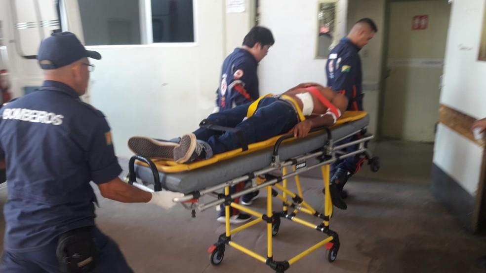 Homem foi levado para o Huerb pelo Samu — Foto: Arquivo pessoal