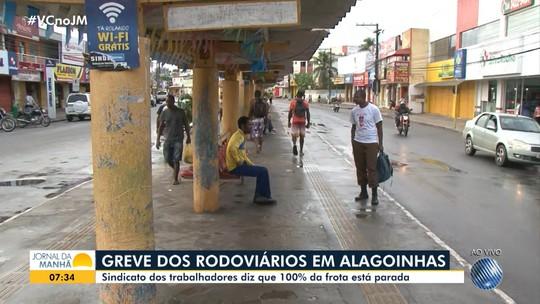 Rodoviários de Alagoinhas estão em greve desde a última sexta-feira