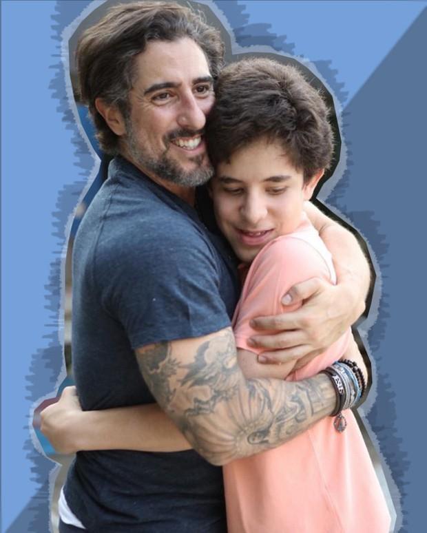 Marcos Mion e seu filho Romeo (Foto: Reprodução Instagram)