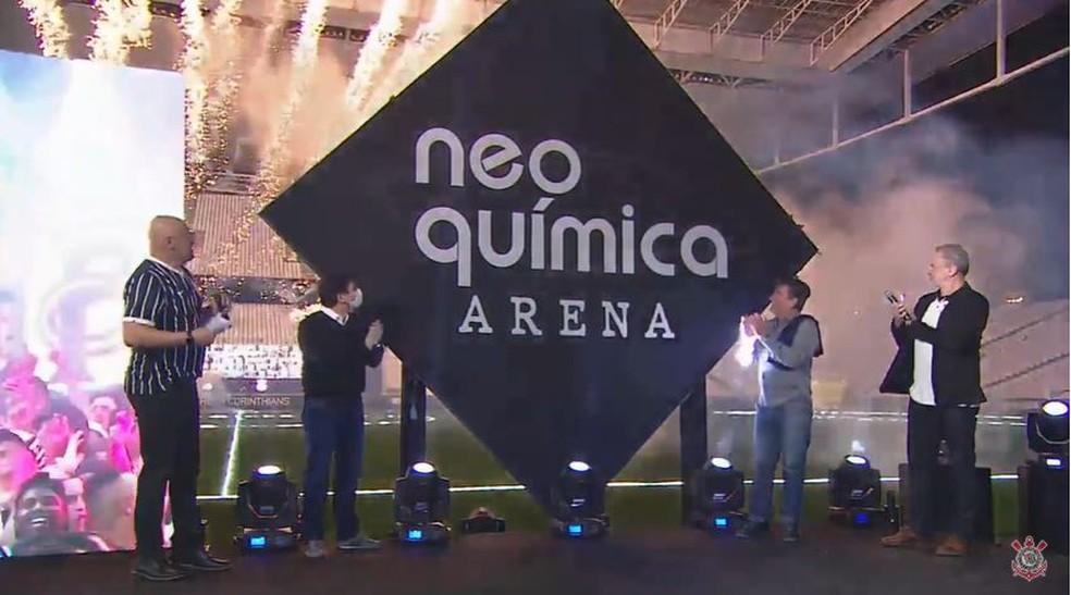 Corinthians anuncia novo nome de sua Arena — Foto: Reprodução