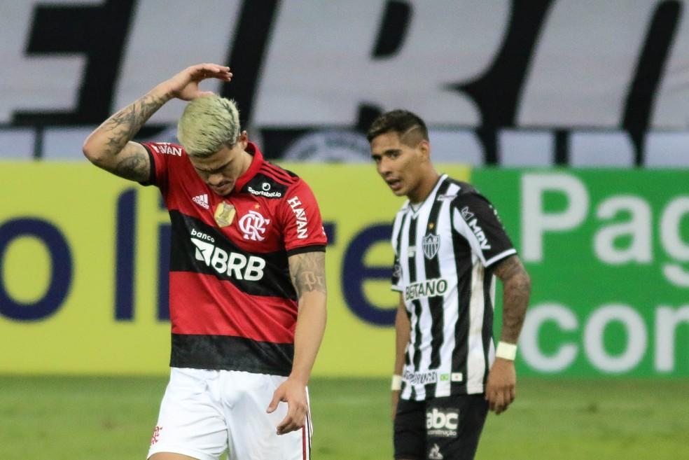 Pedro em Atlético-MG x Flamengo — Foto: Fernando Moreno/AGIF
