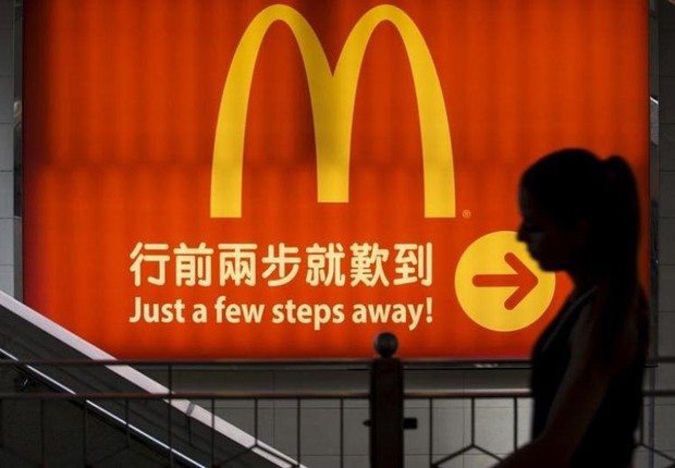 Lanchonete da rede de fast food McDonald's na China (Foto: Jason Lee/Reuters)