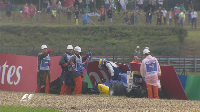 Marcus Ericsson bateu no Q1 do treino classificatório para o GP da Hungria (Foto: Reprodução)