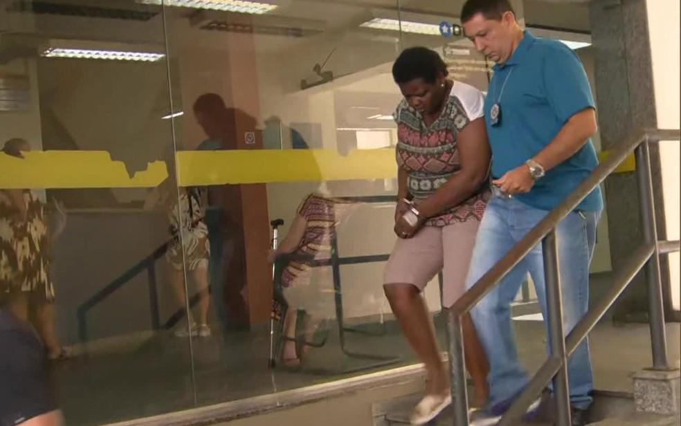 Claudete Maria Rosa da Silva foi presa por fingir sintomas de coronavírus — Foto: Reprodução / TV Globo
