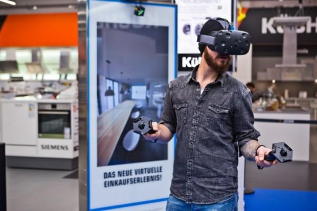Na varejista Saturn, clientes podem olhar produtos com óculos de realidade virtual e ter acesso à mais informações e dados (Foto: Divulgação)