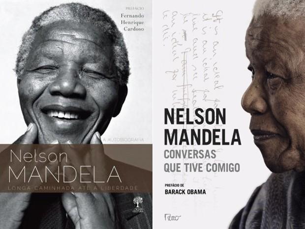 Capa dos livros 'Longa caminhada até a liberdade' e 'Conversas que tive comigo', ambos escritos por Nelson Mandela (Foto: Divulgação)
