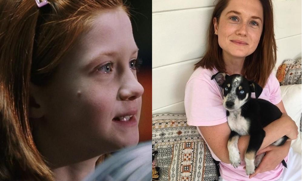 Bonnie Wright em 2001 e em 2018 (Foto: Reprodução/Instagram)