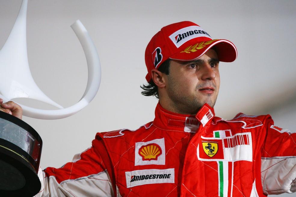Felipe Massa venceu o GP do Brasil em 2008, mas ficou sem o título mundial — Foto: Getty Images