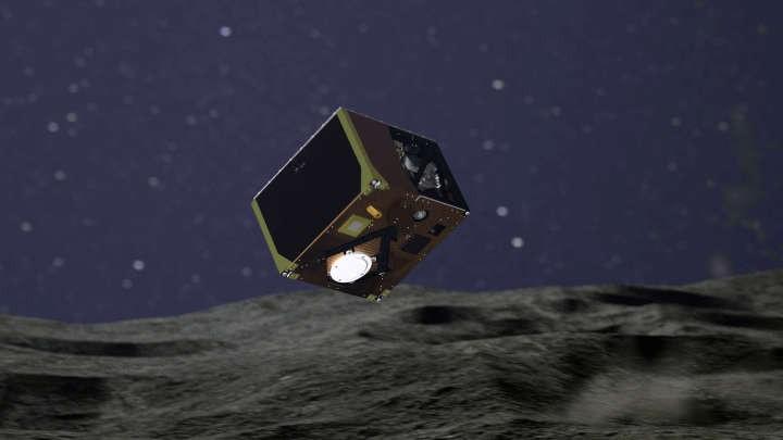 Ilustração da sonda MASCOT (Foto: Divulgação)