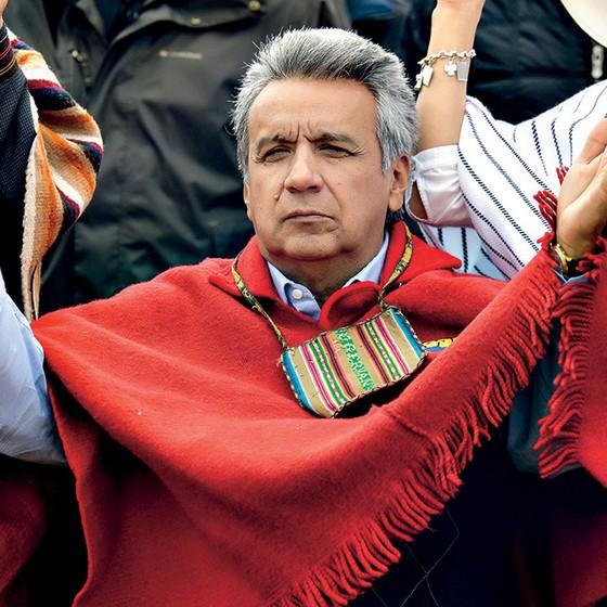 LIMITE O presidente Lenín Moreno impediu que seu mentor voltasse ao poder pela quarta vez (Foto:  Rodrigo Buendia / AFP)