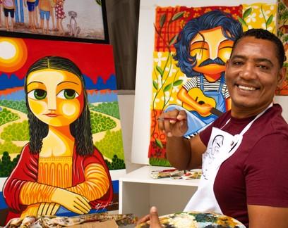 Artista que retrata cultura nordestina faz sucesso na internet e vende até para famosos