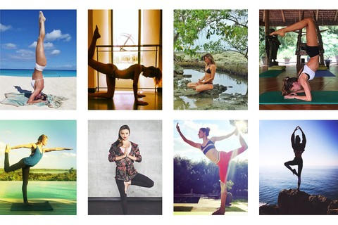 Como praticar yoga, segundo as modelos no Instagram