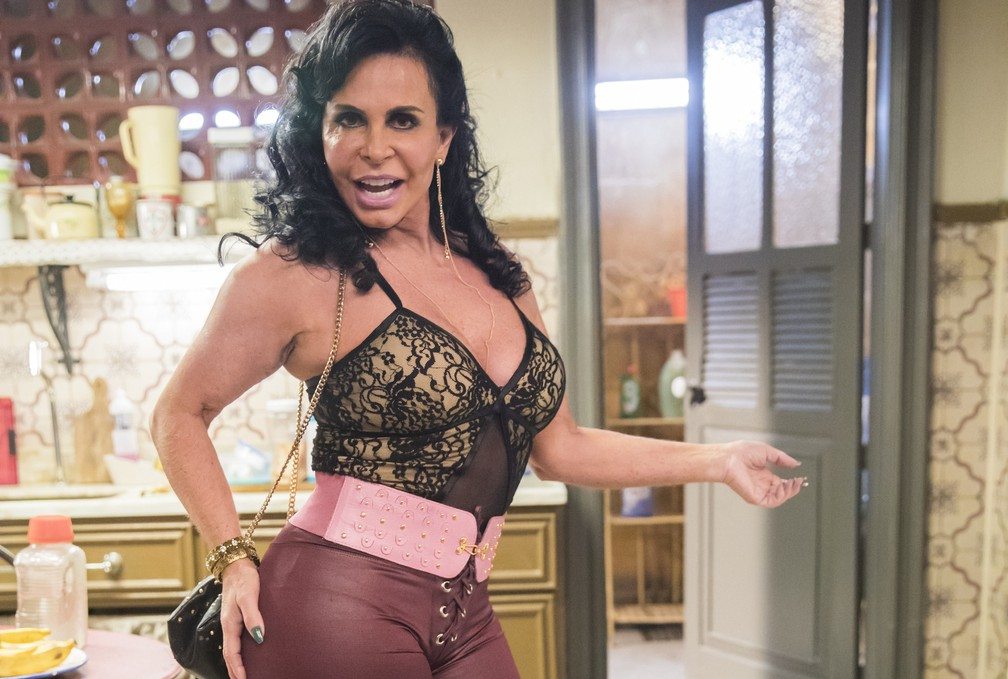 Gretchen interpreta a Gina em 'A Dona do Pedaço' — Foto: Globo/João Miguel Júnior