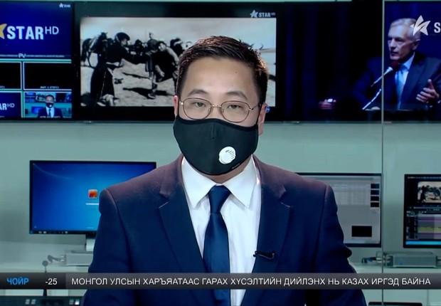 A cidade tão poluída que até âncoras de TV usam máscaras (Foto: BBC)