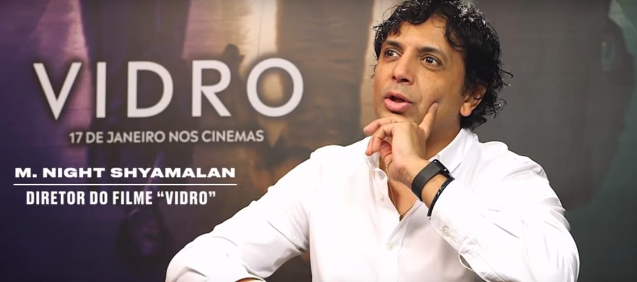 M. Night Shyamalan fala sobre seu novo filme, Vidro, estrelado por Samuel L. Jackson, James McAvoy e Bruce Willis (Foto: Reprodução/Youtube/Revista Galileu)