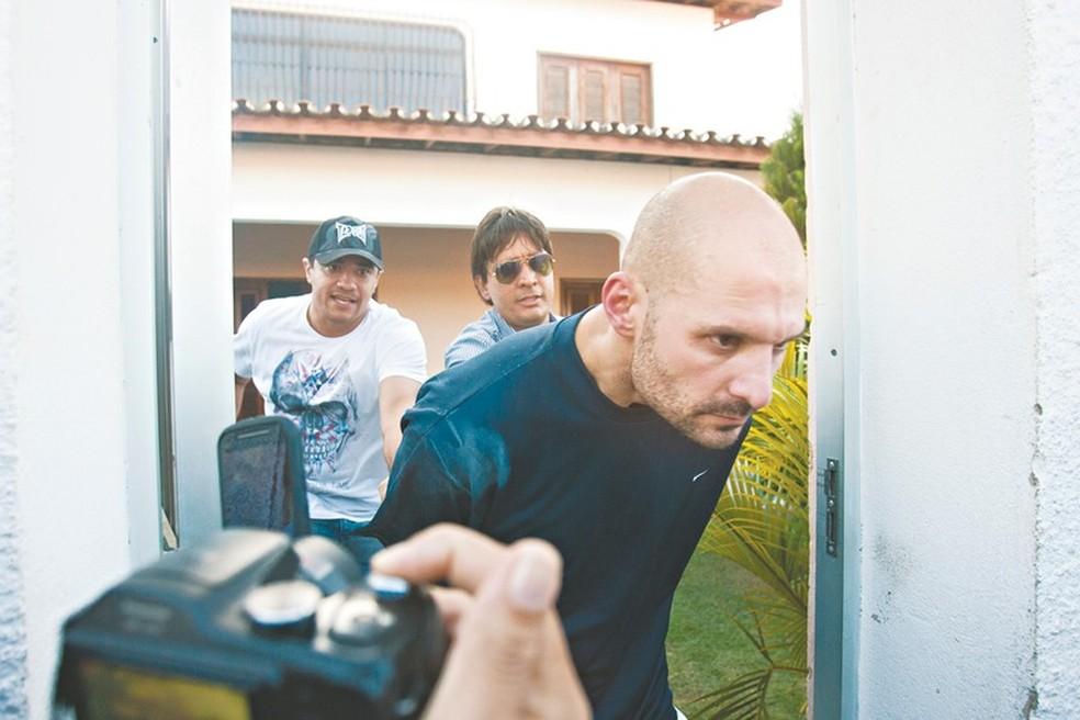 Marcelo Barberena é acusado de matar a mulher e a filha em Paracuru, no Ceará.  — Foto: Fabiane de Paula/SVM