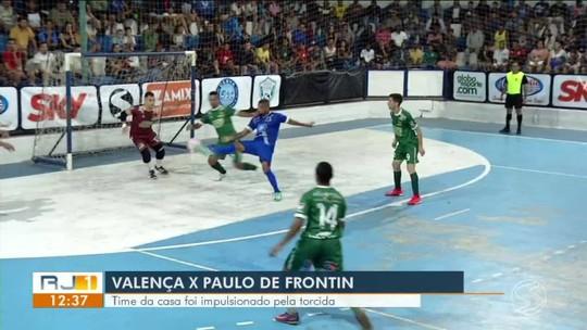 Paulo de Frontin larga na frente no primeiro tempo, mas Valença reage no segundo e empata: 3 a 3