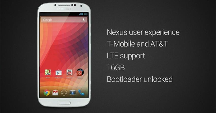 Galaxy S4 com Android 'puro' será lançado em junho, divulga Google