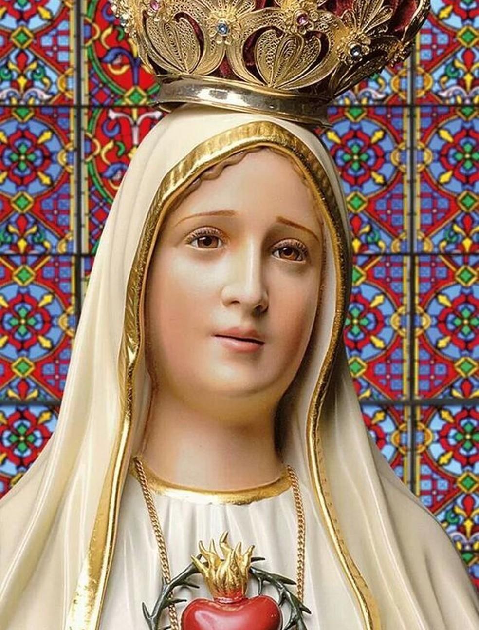 dca5b8243 ... Imagem de Nossa Senhora de Fátima — Foto  Paulo Eduardo Roque  Cardoso Arquivo pessoal