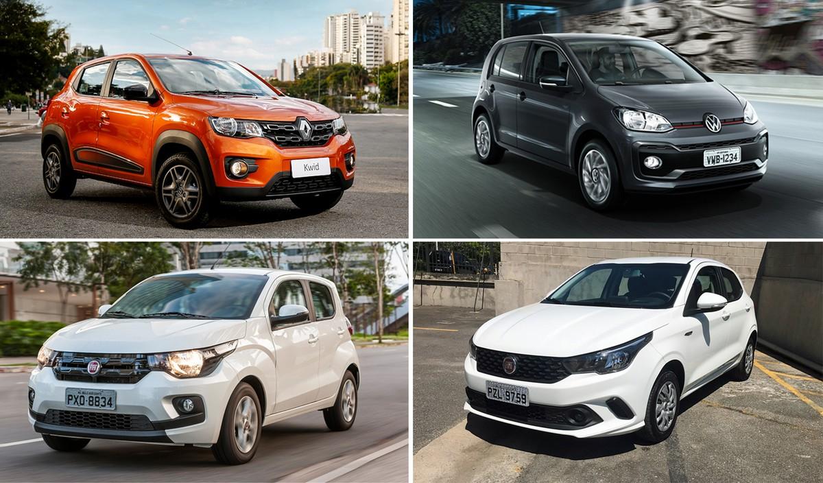 Veja os carros  populares  mais econômicos do país, segundo o Inmetro    Auto Esporte   G1 3f77315bd6